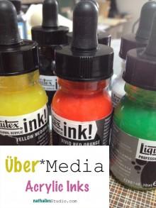 Über*Media Online Workshop Acrylic Inks