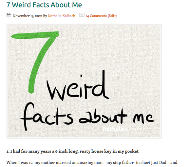 7weirdfacts about me