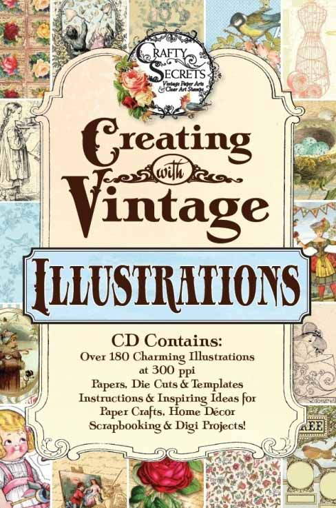 Vicki Crafty Secrets Vintage Illustrations CD