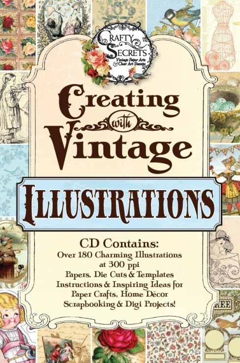 Vicki Crafty Secrets Vintage Illustrations CD