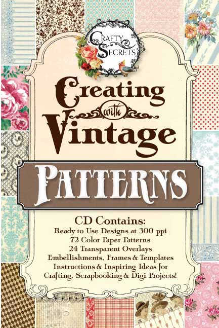 Vicki Crafty Secrets Vintage Patterns CD