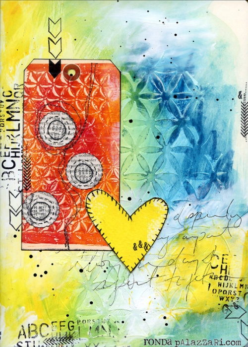 Ronda Palazzari Yellow Heart Art Journal